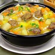 Receita de Sopa para diabéticos de carne com legumes