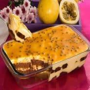 Receita de Pavê de chocolate e mousse de maracujá