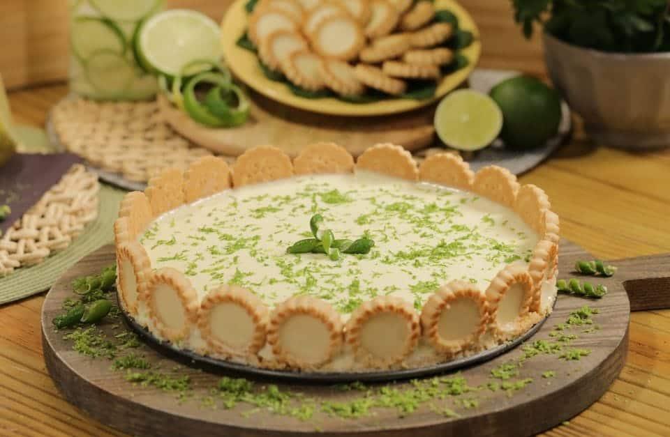 Torta de limão com chocolate branco