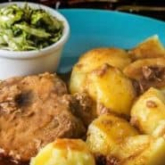 Receita de Carne de panela com batatas