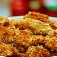 Receita de Sassami de frango crocante com flocos de milho