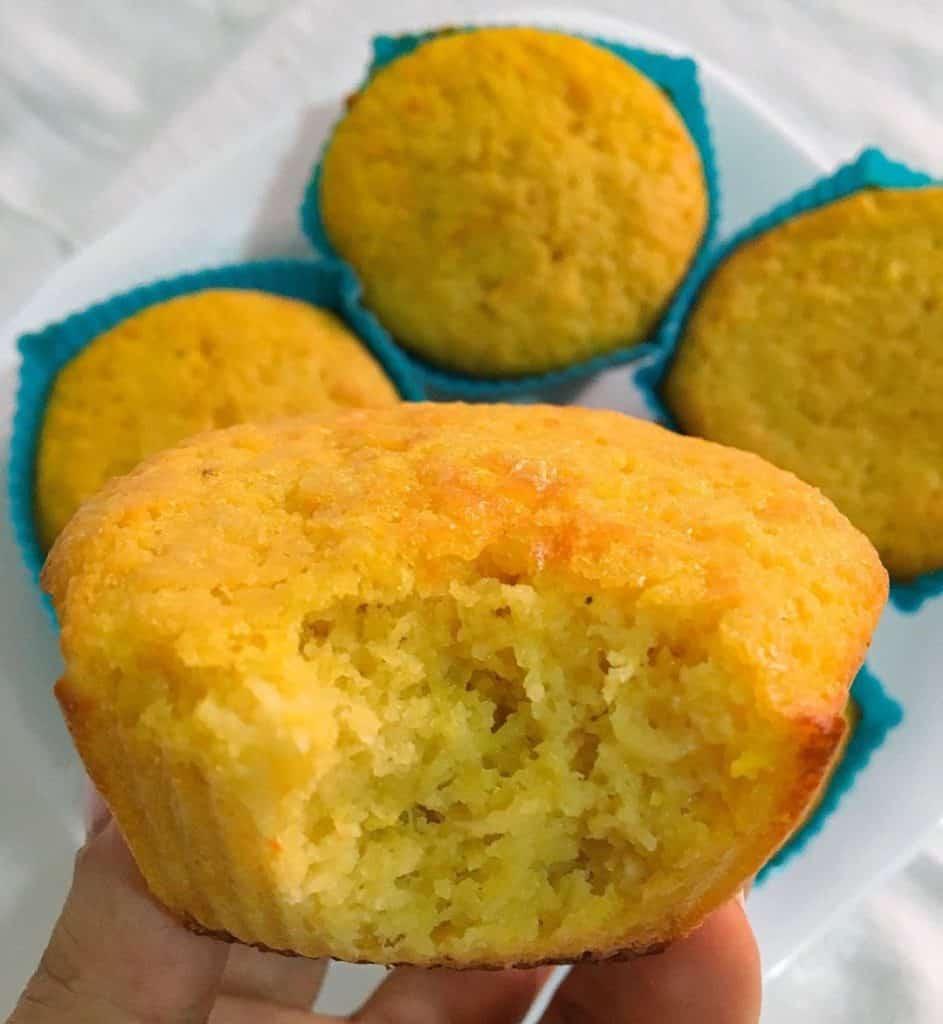 Receita de muffins de cenoura com coco
