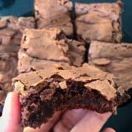Receita de Brownie com a casquinha crocante