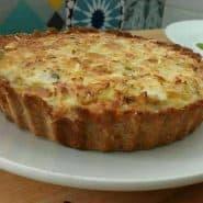 Receita de Quiche de frango e queijo low carb