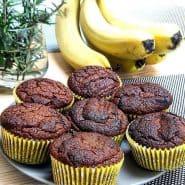 Receita de Muffin de Banana – Sem açúcar, sem glúten e sem lactose