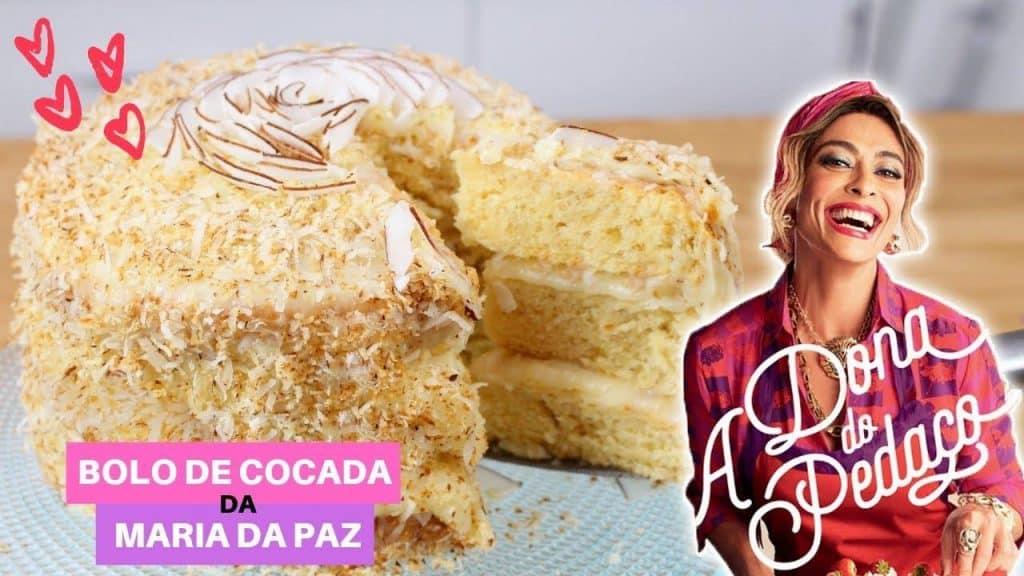 Receita de bolo de cocada Maria da Paz