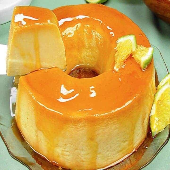 Receita de pudim de laranja