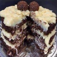 Receita de Receita de bolo de chocolate com cocada mole