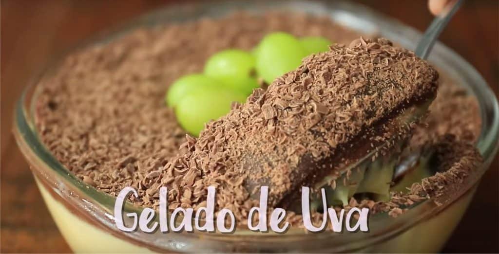 Receita de gelado de uva