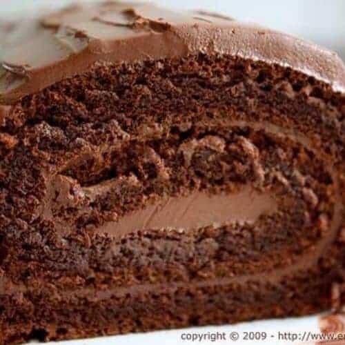 Receita de rocambole de chocolate especial