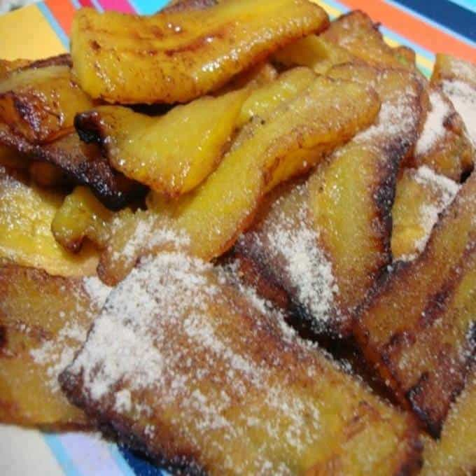 Receita de Banana Frita com Açúcar e Canela