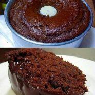 Receita de bolo de chocolate de liquidificador