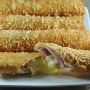 Receita de Cigarrete de presunto e queijo
