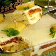 Receita de Pavê de gelatina com abacaxi