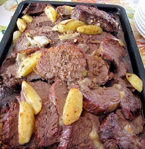 Receita de Picanha de forno com Batatas