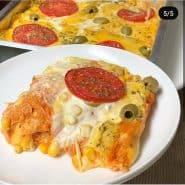 Receita de Pizza de pão de forma