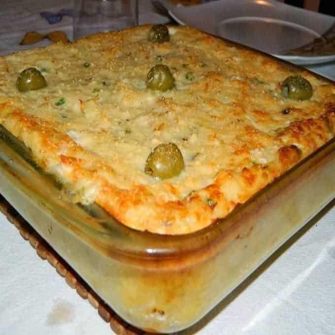 Receita de Torta de Bacalhau Gratinado com Batata deliciosa