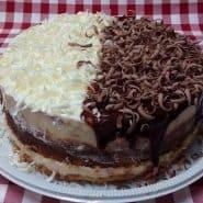 Receita de Torta de Leite ninho com Brigadeiro