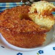 Receita de Bolo de mandioca com côco, sem farinha, sem açúcar e sem lactose