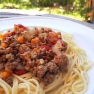 Receita de Espaguete a Bolonhesa Rústico