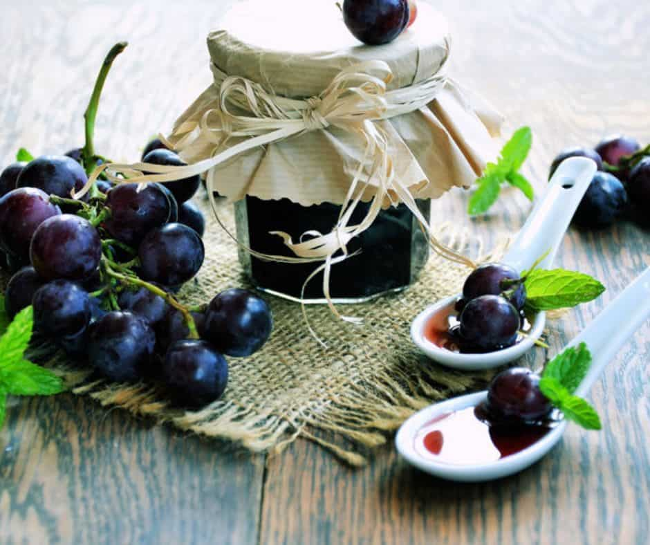 Receita de Geleia de uva