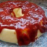 Receita de Pudim de queijo com calda de goiabada cascão