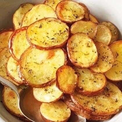 Receita de Batatas crocantes com Orégano e limão