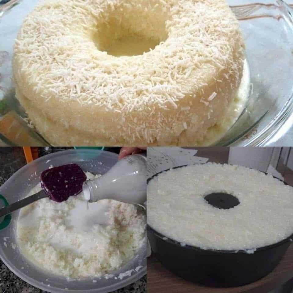 Receita de Bolo de cremoso de tapioca