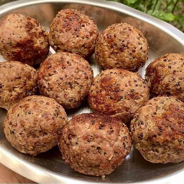 Almôndegas de Carne Moída com Quinoa