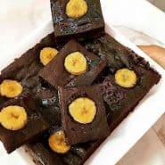 Receita de Brownie de Banana sem Açúcar