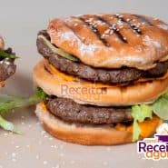 Receita de Big Mac caseiro com molho especial