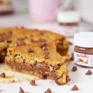 Receita de Torta de Cookie com Nutella