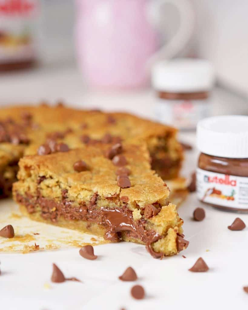 Receita de torta cookie com nutella