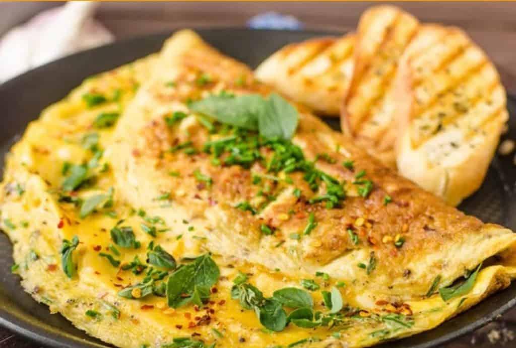 Receita de Omelete de Espinafre