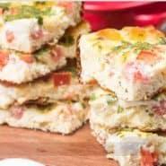 Receita de Omelete de Forno de Queijo e Tomate