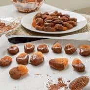 Receita de Snack de damasco com chocolate
