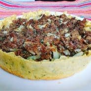Receita de Torta Fit de Batata Doce com Carne Desfiada