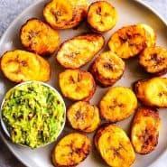 Receita de Banana frita na Air fryer com Guacamole