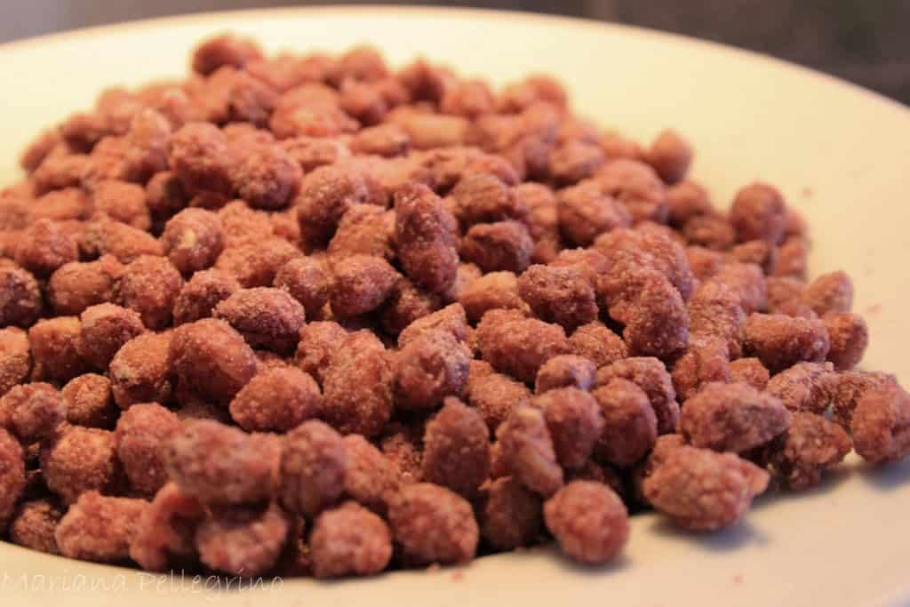 Receita de amendoim doce no microondas