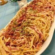 Receita de Macarronada com linguiça e Bacon