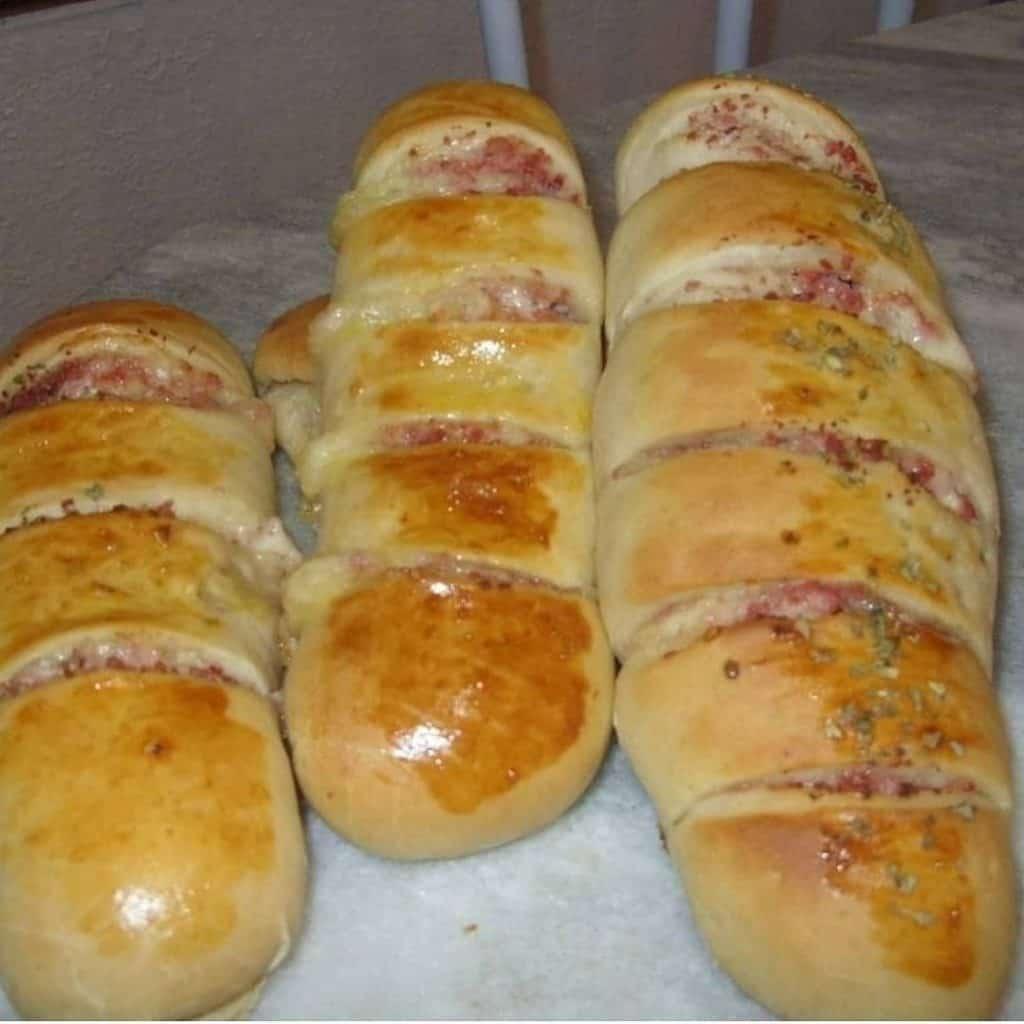 Receita de pão recheado salgado