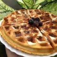 Receita de Waffle proteica