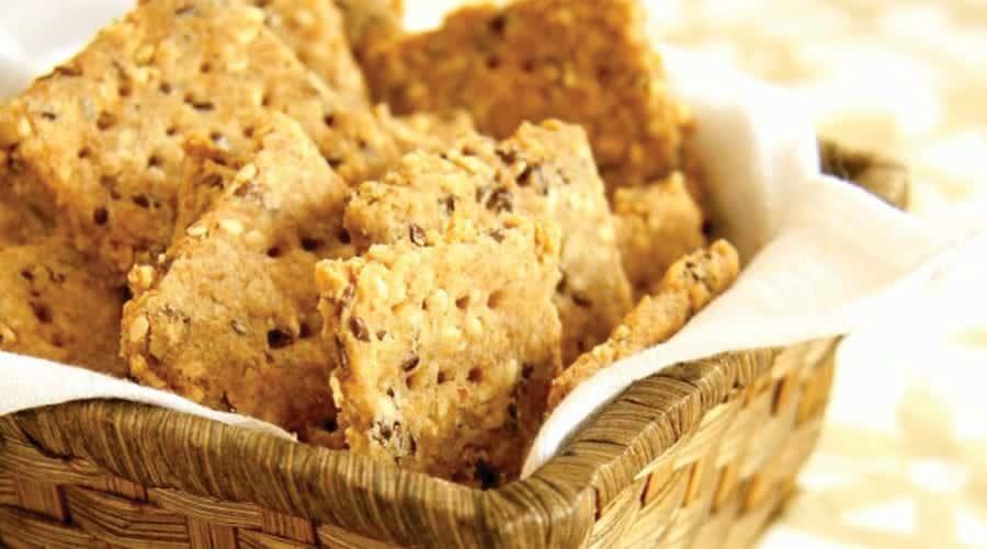 Receita de Biscoito Integral de Gergelim com Linhaça