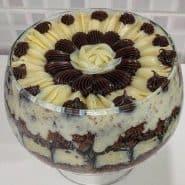 Receita de Bolo de chocolate cremoso com recheio de coco e cobertura de brigadeiro
