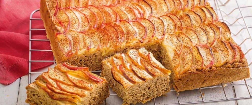 Receita de bolo de maçã sem açúcar