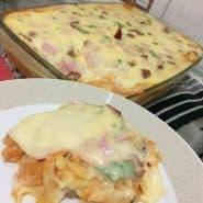 Receita de Macarrão com Calabresa e creme de batatas