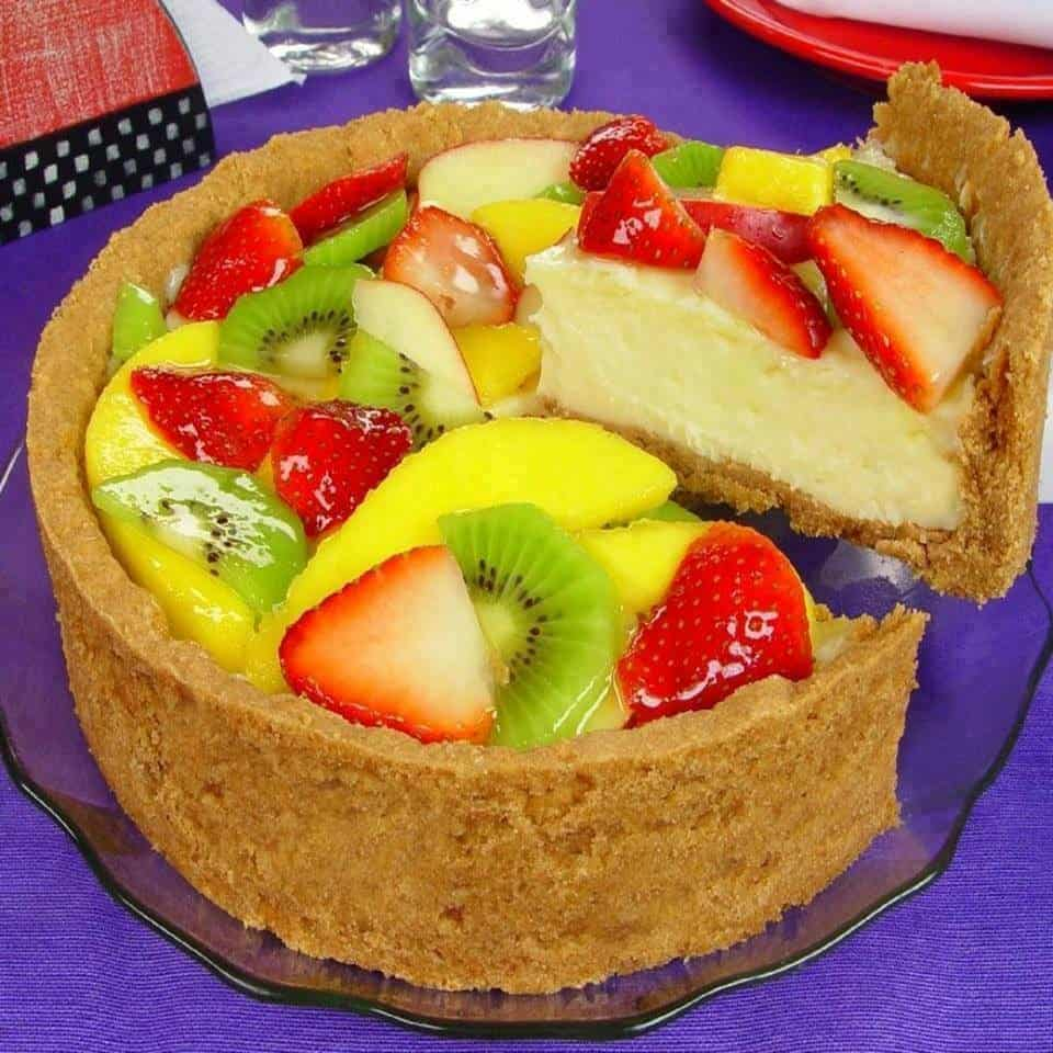 Receita de Torta colorida de frutas