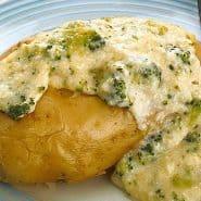 Receita de Batata assada com brócolis