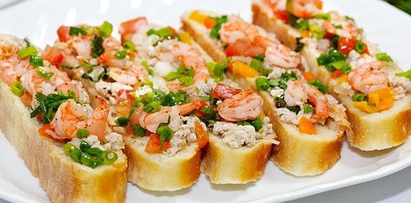 Receita de Bruschetta de camarão