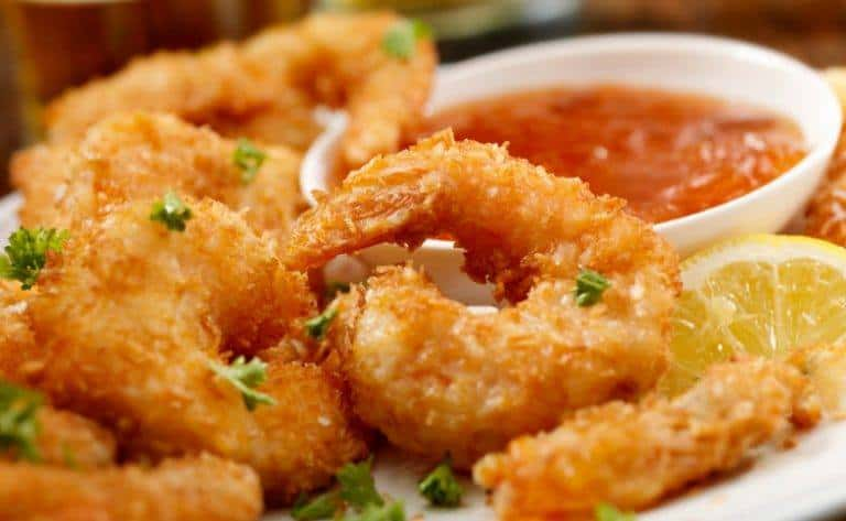 Receita de camarão à milanesa